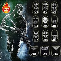 Wholesale New Original Ghost Skull Balaclava Skateboard Costume Cosplay Paintball Outdoor Hood Ski Airsoft Hunting Tactical Full Face Mask