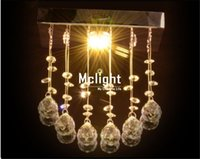 Cheap most popular modern square mini crystal chandelier lustre de cristal lamp home lighting DHL FEDEX shipping