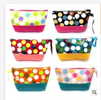 Wholesale Girl s bags makeup Candy Color Make Up Purse Portable Travel Necessary Storage Bgas Zipper cosmetic Bags S0180