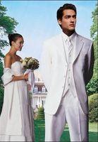 Cheap White Groom Tuxedos Notch Lapel Groomsmen Men Wedding men Suits custom suit,tuxedo italian A suits for men dress---052