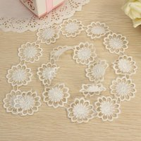 Wholesale 1 Yard White Elegant Guipure Embroidered Net Lace Trim Flower Sewing Crochet Trim Clothes Hat DIY Ribbon