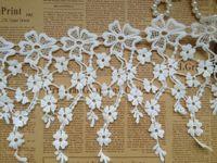 Wholesale Lace White Lace Trim Venice Lace Teardrop Lace Fine Jewelry Supplies Lace Collar Necklace yards