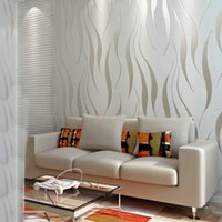 Wholesale 7 Colors Modern Simple Pattern Embossed Wallpaper Stripe Wall Paper Roll For Living Room Bedroom wall Decoration