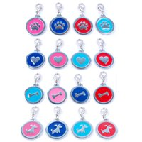 all holidays bells heart shape - 32pcs Mixed Dog Pet Tags Pendants Charms Colors Styles Personalized Dog Collars with Hook Dog Heart Paw Bone Shape mm Diameter