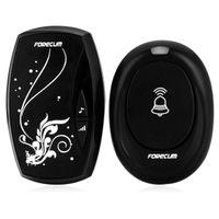 Wholesale Forecum Wireless Remote Control Doorbell Kit Water Resistant Transmitter Receiver M Transmission Range EU Plug