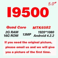 i9500 - Unlocked I9500 S4 Smartphone Android MTK6582 Quad Core WiFi FM Inch Screen Mobile Phone