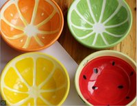 Wholesale Hand drawn fruits and bowls of creative ceramic bowl of Japanese home sweet bowl of children set tableware