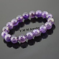 amethyst bracelet - mm Amethyst Beaded Bracelet Natural Amethyst Bracelet For Gift