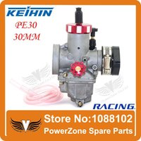 Wholesale KEIHIN Racing Carburetor PE30 mm With Rubber Adapter Fit Motorcycle Moped Scooter Dirt Bike ATV Quad order lt no track