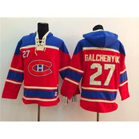 Wholesale Canadiens Galchenyuk Red Hockey Hoodies New Style Pullover Lace Up Hockey Sweater Top Quality Ice Hockey Jackets for Men Players