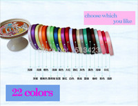 Wholesale 15 off High Quality Solid Color single face Satin Ribbon mm quot width Yards Roll gift Wedding Party Decoration yards drop shipping