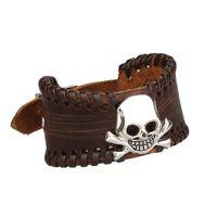 beaded braclet patterns - Punk Jewelry Men Bracelet Skull Metal Pattern Braclet for Women Man Steampunk Wristband Handmade Pulseira Statement Pulseras