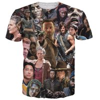 Wholesale 2016 New Arrive The Walking Dead Paparazzi T Shirt Rick Grimes Carl Daryl Michonne zombies d summer style tee t shirt women men