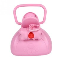 Wholesale New Portable Pet dog Cat Pooper Scooper Bone clip Toilet Tool Bag Dejecta Cleaning Box Blue and Pink Available