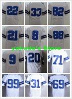 Wholesale 15 season New Player White Sports Elite Football Jerseys Outdoor Football Wear Shirts Cheap Football Jerseys Tops men Football Uniforms