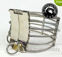 Wholesale HOTSALE Chastity Devices Steel Wire Slave Collar Cleopatra Collar Ann Posture Collar with Brass Lock Joints