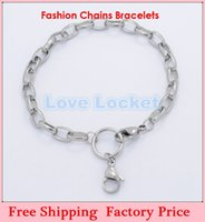 Wholesale 2014 New Arrival DIY Chunky Rolo chains for L stainless steel floating locket bracelets No Locket B167