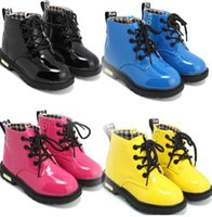 Wholesale 2016 spring Children s shoes children Korean version of Martin boots leather waterproof boots for men and women boots