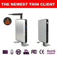 Wholesale SHAREVDI Wireless Thin Client Network Computer PC Station X5W Linux Kernel Embedded Server OS Support Winows vista Linux xp