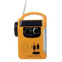 solar radio flashlight - High Brightness LED Camping Lantern Flashlight FM AM Radio Solar Crank Power Emergency Charger Y4344Y