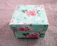 Wholesale 24pcs a Square Peony Pattern Favors Wedding candy Gift Boxes For wedding Party