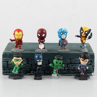 Wholesale Marvel The Avengers Super Heroes Mini Action Figures Toys Captain American Ironman Superman Hulk Spiderman