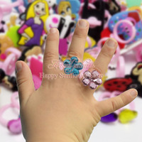 little girl jewelry - Free DHL PVC Band Rings Mixed Mickey Minnie Ladybug Frozen Little Pony Girl gifts lovely Snow White Princess rings fashion Jewelry