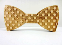Wholesale New Arrival Fun personality men leisure Wooden Bow Ties bowtie butterflies good wood for Xmas Gift