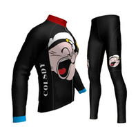 Wholesale New personality kids Black and red Cartoon atumn cycling sleeve jersey boy s winter fleece outdoor bicycle sports wear