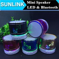 pa speaker - LED Light Ring Flash Bluetooth Mini Speaker Wireless Portable Active Speakers Support TF mm Audio Handsfree For Phone PC Tablet PA