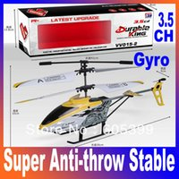 aeroplane models - Super anti throw stable CH Infrared Gyroscope Remote Control RC Helicopter VV015 Gyro Aeroplane Model Toy Gift Mini Aircraft