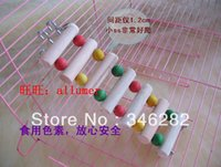 Wholesale Wooden hamster catladder stair or for parrot toy wooden climb ladder stair multicolour parrot wooden ladder