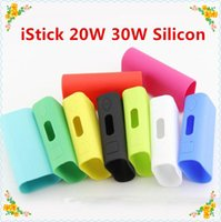 Wholesale 2015 hot Istick Skin soft Silicone rubber Cases carry Bag Ismoka Eleaf Silicon box protective Case cover For Istick w w box mod Stock Se