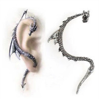 alchemy earrings - New Alchemy Gothic Dragon Earring Stud Wrap Black Dragon s Lure Ear Cuff Colors