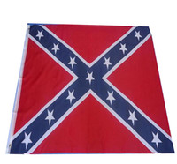 Wholesale 150 cm Confederate Rebel Flag Civil War Flag Two Sides Printed Flag USA National Polyester Flags X FT Refly