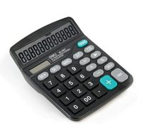 Wholesale Calculator ES Economic type solar energy double power office supplies Desktop Calculator not only for office use but also for gifts