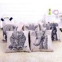 Wholesale 45x45cm Animal Decorative Cushion Cover Printed Embroidery Linen Cotton Throw Pillowcase capa de almofada Pillow Covers