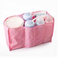 Wholesale Portable Separate Blue Pink Mummy Bag Multifunctional Nappy Maternity Handbag Liner Baby Kids Tote Diaper Organizer and Storage Bag SK466