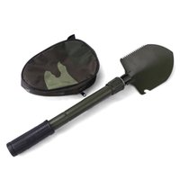 Wholesale Foldable Shovel Spade with Compass Emergency Garden Camping Hiking Outdoor Tool Good Quality Hot Selling Easy To Carry