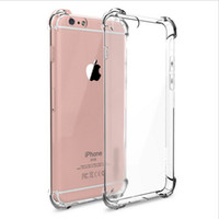 anti super - Super Anti knock Drop proof Soft TPU Transparent Clear Cover Full Protecion Case for iPhone plus S Plus