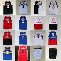 answer jersey - The Answer Allen Iverson basketball jersey shorts Stitched throwback jerseys Embroidery Logos NA124