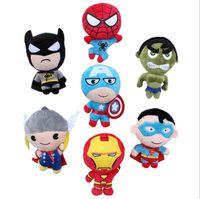 Wholesale 2015 Cartoon The Avengers Plush Toy Spiderman Superhero Batman Thor Plush Toys Kids Stuff Toys cm MC