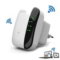 achat en gros de nouveau n sans fil wifi répéteur-2015 Nouveau Wireless-N Wifi Répéteur 802.11n / b / g Réseaux Routeurs Wi-Fi 300Mbps Amplificateur Expander Signal Booster Extender WIFI Ap Wps Cryptage