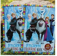 coloring book - 100pc New Machine Cat Frozen Snow Queen Ice Students Kids Cartoon Sticker Book Painting Coloring Books Drawing Paper Sticke Z382