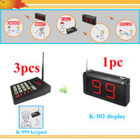 Wholesale 3 keypad and display Coffee shop Restaurant Bar customer serivce calling queue paging pager system queue calling system