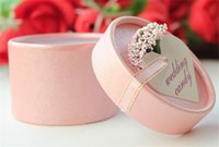 Wholesale 150pcs Romantic Lavender Candy Box Cylindric Candy Box Wedding Party Gift box