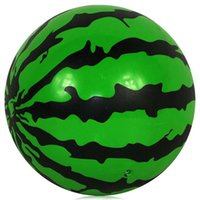Wholesale Hot Sale Kids Inflatable Ball Toy cm Plastic Ball Watermelon Ball PVC Ball Child Baby Gifts Air Beach Ball JF0003 smileseller