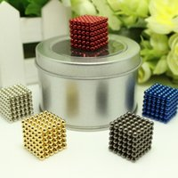 big present boxes - Hot mm neodymium magnetic balls spheres beads magic cube magnets puzzle birthday present for children with metal box