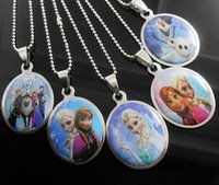 Steel - 2014 Top Sale Child Necklace Jewelry Fashion Frozen Stainless Steel Pendant Necklaces