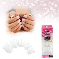 press on nails - Arfificial Nails Tips Press On Manicure Short Length No Glue Needed N Tip RCP